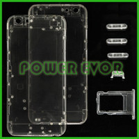 Wholesale For iPhone Housing Transparent Middle Frame Plastic Battery Door Back Cover Plate Bezel Chassis for iphone