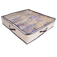 bamboo brand sandals - Brand new Hot Sale New Portable Non Woven Bamboo Charcoal Fibre Storage Box For Sandals Leather Shoes Etc pc
