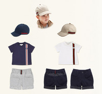 clothes for kids - Brand Baby Boys Clothing Piece Set Cap Boys T shirt shorts Summer Children Clothes For Kids Boy Outfits D5527