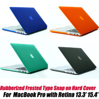 Wholesale 10pcs NEW Rubberized Frosted Type Snap on Hard shell case for MacBook Pro with Retina Display by DHL
