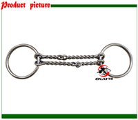 Wholesale SS ring snaffle bit double wired twisted jointed mouth Horse bit BT0509