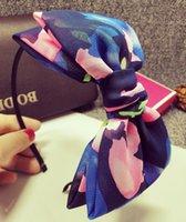 Wholesale 2015 latest Korean fresh floral double bow hair hoop headband hairpin head ornaments Summer Sale