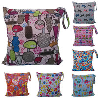 Wholesale 11 Styles Hot Baby Protable Nappy Reusable Washable Wet Dry Cloth Zipper Waterproof Diaper Bag Accessories