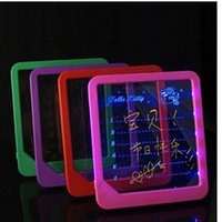 led writing board - Led Fluorescent Board Creative LED Message Board Kids Painting Writing Large Message Boards Valentine s Day Luminous Plate