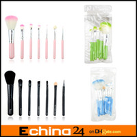 3-4 Years black powder - New Cute Kitty Mini Cosmetic Makeup Powder Brushes Set Tools Kit Pink Black Blue Green