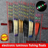 Wholesale Promotion a set of Luminous Electronic Fishing Float LED bobber buoy Vertical Night floats for fishing tackle light stick