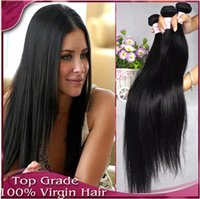 Wholesale mix lenght quot Unprocessed Hair Peruvian Virgin Human Hair Extension g PC straight Double Weft FastShipping