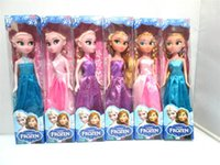 Wholesale Frozen Anna Elsa Toys Princess Dolls inch Christmas Nice Gift for Kids Girls Birthday Gift Barbie Doll Princess Dolls Toys G0235