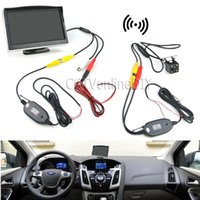 backup disc - Car Rearview Backup System Wireless Waterproof Reversing Camera quot TFT LCD Monitor with Paste Base and Sucking Disc Bracket