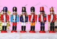 nutcrackers - 12 CM Continental Nutcracker toy soldier puppets popular ornaments fashion creative home Valentine s Day gift