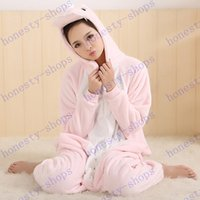 Wholesale Hot Sale Flannel pink dinosaur Adult Costume Onesies Pajamas Jumpsuit Hoodies Adults Cosplay Costumes