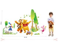 Wholesale The third generation of children room cartoon stickers stickers pooh partners TV setting wall stick cm