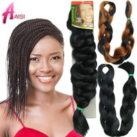 hair weave and wigs - Foreign trade wig Braided hair high temperature wire European and American wig Black woven hair and retail