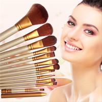 angled eyeliner brush - Hot Sales Pro Makeup Brushes Set Synthetic Hair Powder Foundation Eyeshadow Lip Eyeliner Angled Contour Brush Tool T251