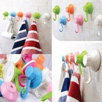 Wholesale New Plastic Removable Suction Cup Sucker Wall Window Bathroom Kitchen Hanger Hooks