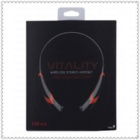 Wholesale HBS Stereo Bluetooth Headset vitality wireless Earphone Universal Tone LC Neckband headphone For LG iPhone Samsung