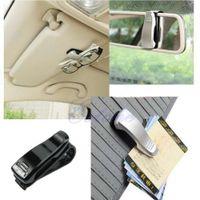 Wholesale 1pcs Car Accessory Sun Visor Sunglass Eye Glasses Card Pen Holder Clip Stand four color options