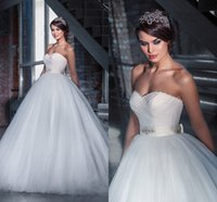 victorian ball gown wedding dresses - 2015 Victorian Tulle Wedding Dresses Ball Gown Sweetheart Floor Length Corset Bridal Gowns Custom Made Cheap Wedding Gowns