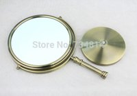 antique iron mirror - Iron Cosmetic Mirror Vintage with Glass antique bronze color plated