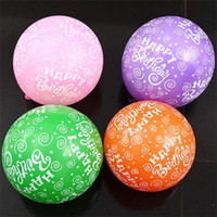 Wholesale 12inch lettering happy birthday printed balloon thickening latex inferior smooth balloons g pces kids birthday decoration balloon