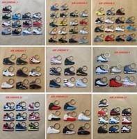 shoe chains - Jordan Basketball Shoes Generations Lebron Durant Yeezy Kobe Foamposites Back To The Future Key Chain