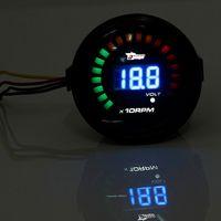 auto meter tacho - Audew MM Car Auto Tacho Tachometer Gauge Black Digital LED Display Meter RPM Motor order lt no track