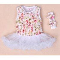 ballet vest - Baby Girls Tutu Dress Summer Vest Rose Flower Lace Dress Ballet Ruffle Dress Headband Cotton Princess Carter Bodysuit