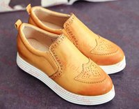 New Spring Vintage Women Oxford Shoes Lace-up Pointed Toe Low Heel Casual Single Shoes
