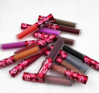 Wholesale Lime crime lipstick Lime Crime Velvetines lip gloss Lime crime matte in Red Velvet Makeup Lime Crime mixcolor colors retail packaging