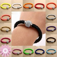 magnetic fashion - Colorful handmade Bracelets with magnetic clasp statement charms infinity unique personal ladies punk fashion bracelets bangle ZB041
