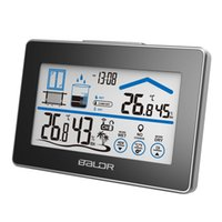 bath station - Baldr Lcd Touch Buttons In ourdoor Temperature Clock Humidity Digital Home Weather Station clocks Wireless Sensor Table Clock