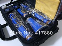 Wholesale Factory direc key bakelite tube clarinet in B flat surface blue stock