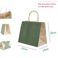 baking shop - Medium size X20X14cm Eco friendly high quality kraft paper handle shopping bag for baking gift shopping