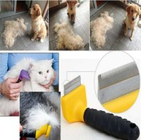 barber trimmers - Pet Barber tools Flea Comb For Dog Steel Brush Hair Metal Comb Dog Grooming Trimmer Cute Pet Cat Dog Comb hair Removal Colors