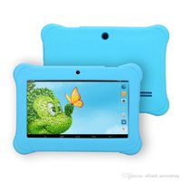 Wholesale iRULU quot Kids Tablet PC Android4 Allwinner A33 Children Tablets Q88 With Silicon Case HD Screen Tablet DHL Free