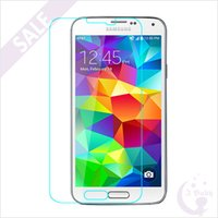 Wholesale High Quality Tempered Glass Explosion Proof Anti Fingerprint HD Screen Protector with Retail Package for Samsung Galaxy S5 I9600 Ibaby888