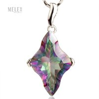 Wholesale Colorful natural diamond crystal pendant personalized original design exquisite craft fashion