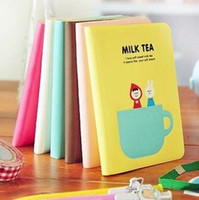 Wholesale Free ship pc sleeve book notepad scheduling notebook Milk tea leather diary color for choice