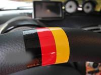 audi flags - Car Decoration Steering wheel sticker German flag for Volkswagen skoda octavia benz Audi passat b5 vw golf tiguan