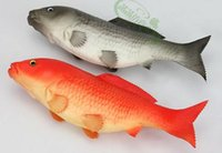 Wholesale 35 CM Large size artificial fish high quality simulation PU red gray carp teaching props