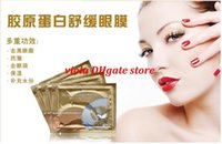Wholesale Beauty Makeup Eye Care High quality White Crystal collagen Eye Mask Hotsale eye patches Cuidados com os olhos packs