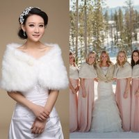 Wholesale 2015 New Bridal Pearl long fur Wedding Fur Wrap Cape Shawl Bridal Jackets Coat Wrap Tippet For Bridesmaid As well