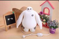 Wholesale 2015 Dimmable New Arrival Big Hero Baymax Cartoon USB LED Lamp Night Light Night Lamp With Remote Control For Birthday Gift