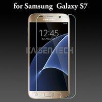 Gros verre protecteur d'écran Avis-0,2mm 2.5D antidéflagrant 9H Full Clear protecteur d'écran en verre trempé pour Samsung Galaxy S7 s6 bord plus film protecteur d'écran Vente en gros