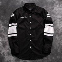 air batik - new winter fashion Hood By Air hba Men lapel shirt letters Slim printed long sleeved shirt