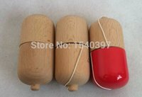 Wholesale 3 piece factory customes kendama pill wooden mini for New style wooden outdoor