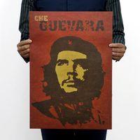 bathroom symbol - Che Guevara portrait retro kraft paper posters wall stickers room decor home decal global fashion symbol mural art home decoration