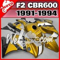Cheap NEW really ABS fairings high quality AAA+3 free gift+Fairing 91 92 93 94 CBR600RR 1991-1994 CBR 600 F2 White Yellow H21W35