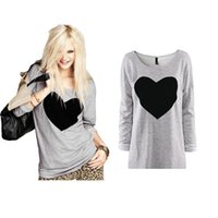 Wholesale S XL Fashion Women Love Heart Printed half Sleeved Round Neck casual Shirt T east