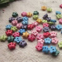 Cheap Mini buttons 144pcs mixed color 6mm star shape resin buttons craft scrapbooking accessories diy sewing little buttons